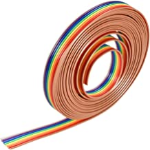 uxcell IDC Rainbow Wire Flat Ribbon Cable 8P 1.27mm Pitch 3meter/9.8ft Length