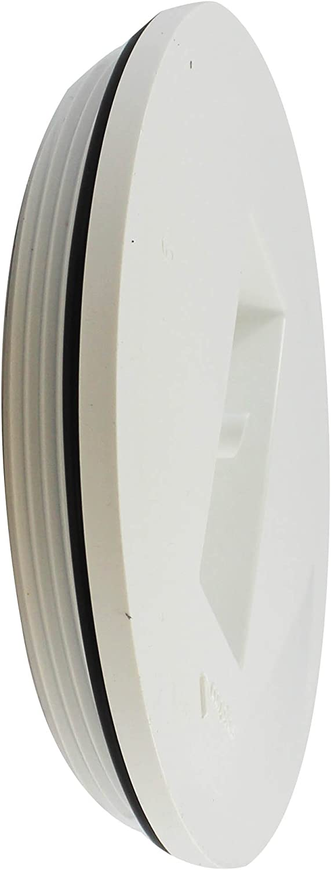 Canplas 193066 PVC DWV Plug Special sale item Los Angeles Mall Countersink White 6-Inch