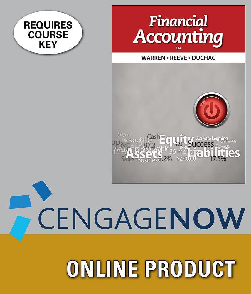 CengageNOW Seattle Mall for Warren Reeve Accounting Financial Large-scale sale Duchac's 13th