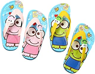 Hopscotch Boys and Girls Rubber Applique Slippers in Yellow Color