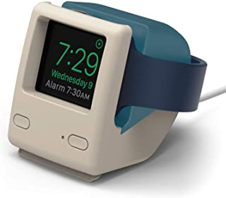 elago W4 Stand for Apple Watch Series 4 / Series 3 / Series 2 / Series 1 / 44mm / 42mm / 40mm / 38mm [Nightstand Mode][Vintage 1998 Design][Patent Pending] -Aqua Blue