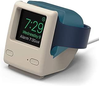elago W4 Stand (Aqua Blue) for Apple Watch Series 5, Series 4, Series 3, Series 2, Series 1, 44mm, 42mm, 40mm, 38mm - Nightstand Mode, Vintage 1998 Design [Patent Pending]