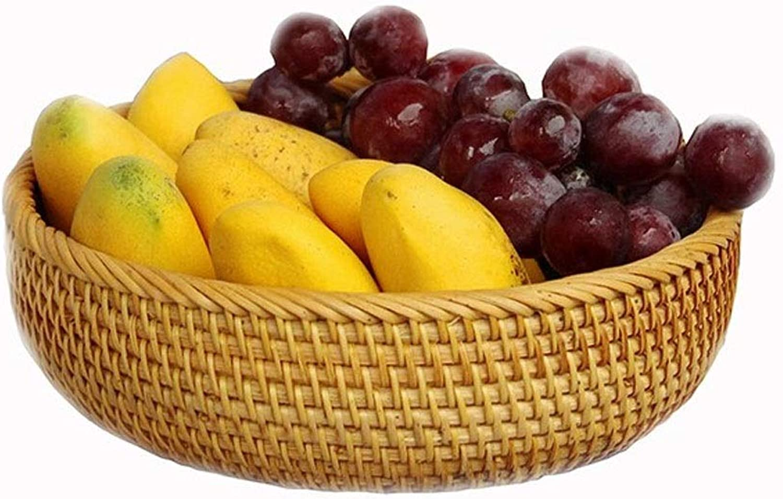 Household Bread Basket, Fruit Basket, Rattan Finishing Storage Woven Basket (Size   L)