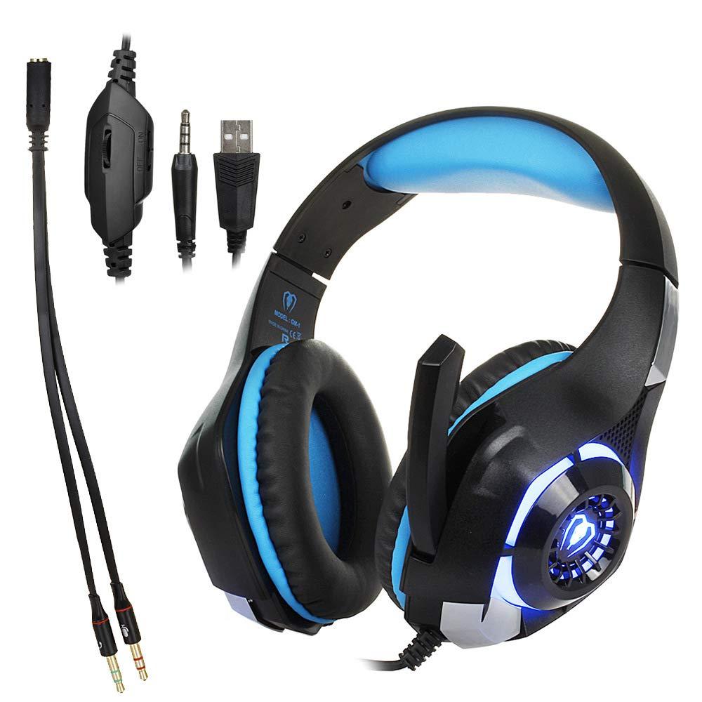 SMTDEJ PC Gaming Headset para PS4 Xbox One, Auriculares estéreo ...