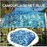 HTTWZW キャンプ陸軍CS隠す狩猟射撃温室パティオガーデン庭裏庭の芝生の工場パーティーの装飾シェードSのためのカモフラージュネット2x2m 2x3m 5x6m 3x4m、カモサンシェイドネッティングブルー W8Z8W8 (サイズ : 4x5m)