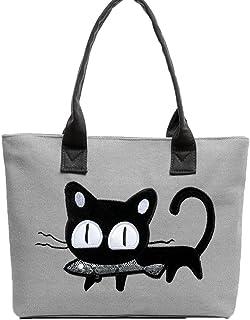 1ee87dccf9 Wicemoon Sac Cabas Femmes,Femmes Sac à main Modèle de chat de dessin animé,