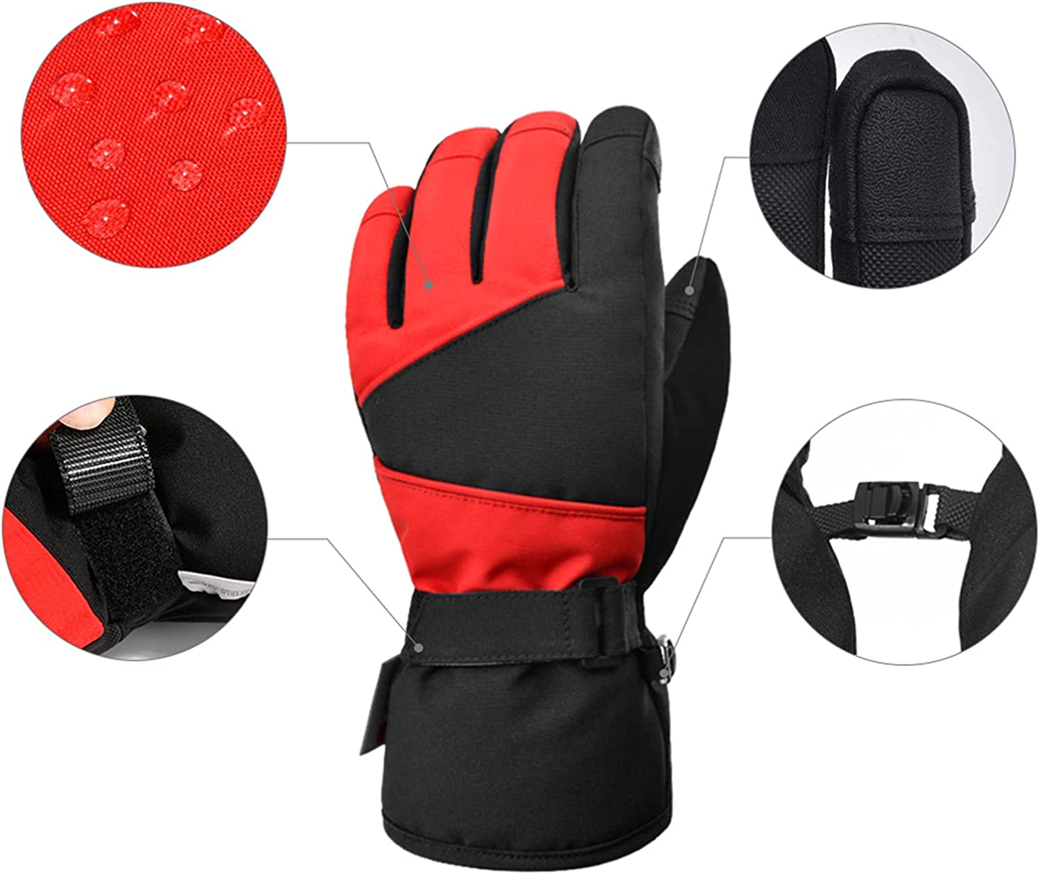 Winter Ski Gloves Waterproof Mitten Warm Windproof Gloves Outdoor Skiing Camping Riding Mittens for Boys Girls