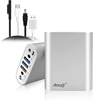 Atcuji 55SP 15000mAh Surface Pro X 7 6 5 4 Portable Charger 140W Power Delivery for Microsoft Surface Laptop Power Bank Surface Go External Battery iPhone iPad Samsung Galaxy Google Pixel OnePlus more