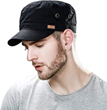 Comhats Mens 100% Cotton Classic Army Caps Military Hats Baseball Cap for Men Adjustable(3 Sizes 56-65CM)