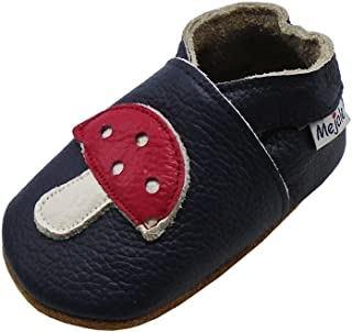Baby Shoes Soft Sole Leather Moccasins Cartoon Mushroom Infant Toddler First Walker Slippers