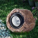Landscape Rock Light, Solar Powered Garden Lights Outdoor Decorative Waterproof LED Spotlight for Decor, Ground, Driveway, Pathway, Walkway, Yard, Patio