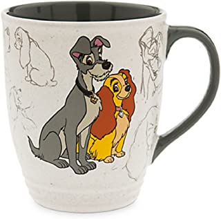 Disney Store Lady and the Tramp Classic Coffee Mug Cup