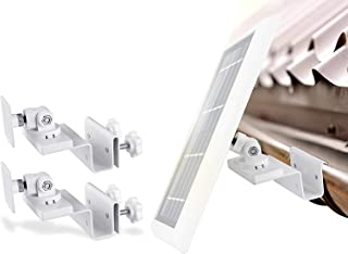 Wasserstein Gutter Mount Compatible with Ring, Arlo, Blink, Reolink Cams & Compatible Solar Panels (2 Pack, White)