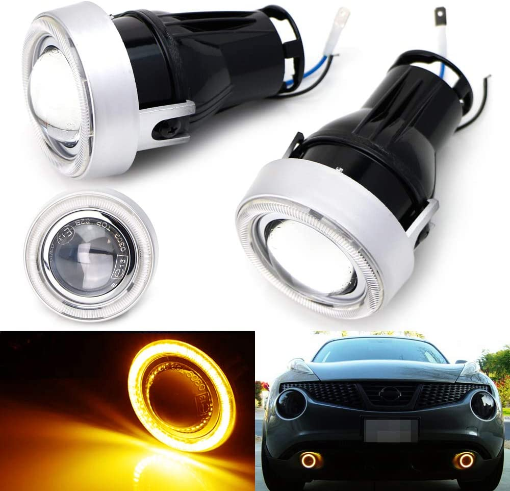 iJDMTOY 3-Inch Projector Spring new work one after another Max 56% OFF Fog Light Kit 40-SMD w LE Yellow Amber