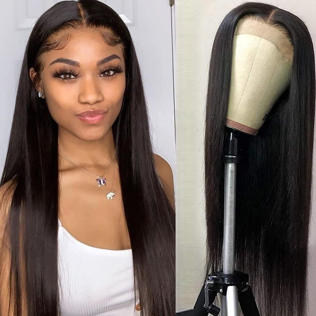 Straight 25% OFF Lace famous Front Wigs Human Hair Straigh Part 5x5x1 Middle T