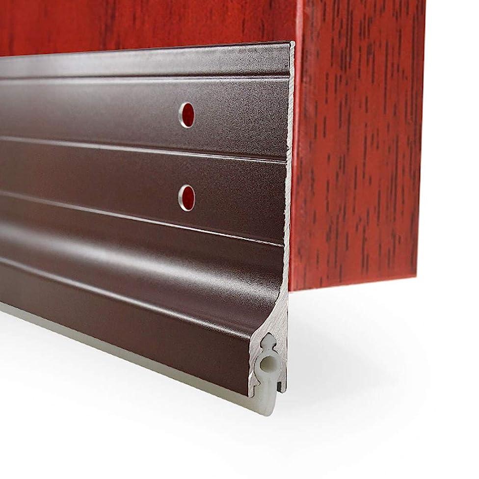 花弁戸口気配りのあるドアシール ドアボトムラットプルーフシーリングストリップ、 防犯ドア自己接着防音防風アンチゴキブリドアギャップシール、 W8.5 * L100CM (Color : Brown)