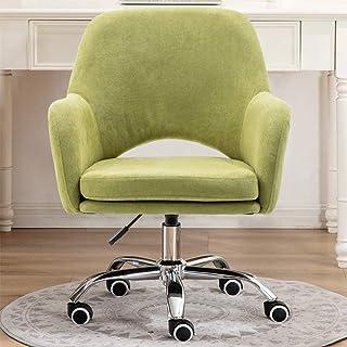 Silla escritorio ufficio ergonomica Silla giratoria, escritorio tapizado de oficina en casa, silla decorativa moderna, cómoda silla giratoria acolchada con ruedas para sala de estudio de conferenci