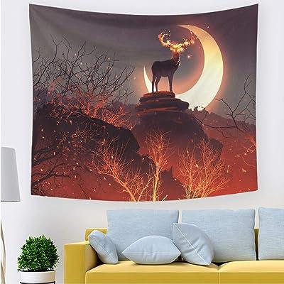xkjymx Tela Decorativa Tapiz de ensueño Noche 211534 150 * 130 cm ...