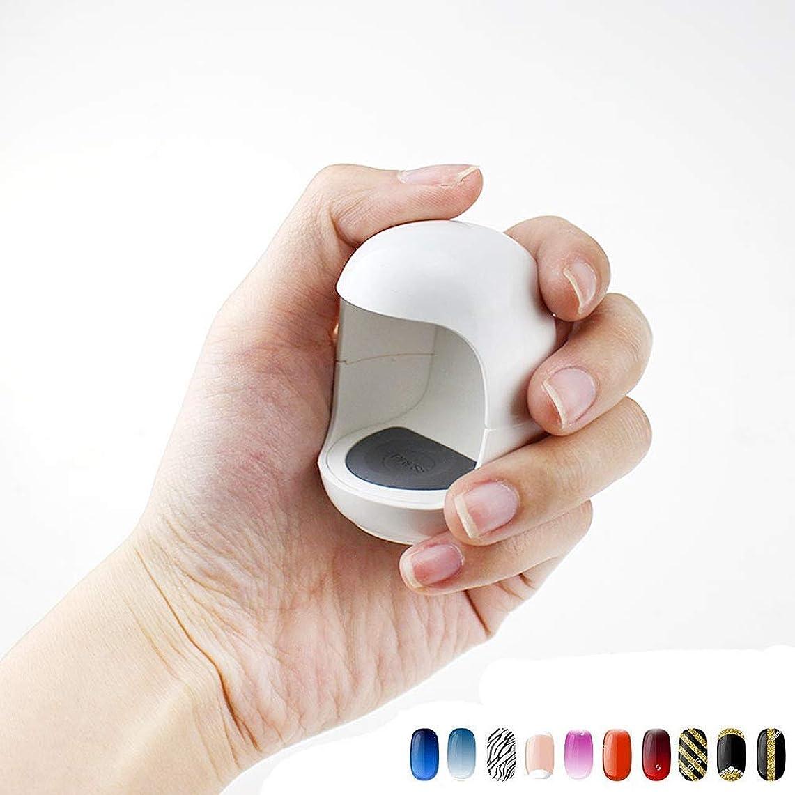 ネクタイ力省UV LEDネイルランプミニQ型USBケーブルマニキュア素材ネイルドライヤージェルランプキュアライトシングルネイルポリッシュマニキュアツール