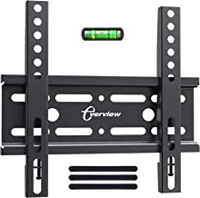EVERVIEW Fixed TV Wall Mount Bracket for 17-42 Inch LED LCD OLED Plasma Flat Screen TVs - Ultra Slim TV Mount Saves Space, Max VESA 200x200mm - Low Profile Fix Wall Mount Holds up to 33lbs