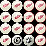 (Detroit Red Wings) - Imperial Officially Licenced NHL Home vs. Away Team Billiard/Pool Balls, Complete 16 Ball Set