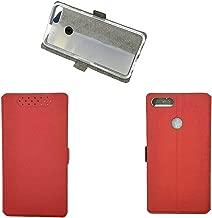 for Lenovo K5 Note 2018 Case,PU Leather Flip Case for Lenovo K5 Note L38012 2018 Case Cover Red