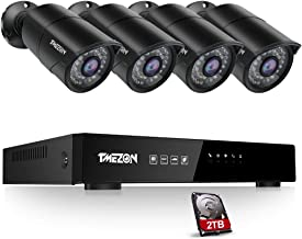 TMEZON 4 Channel Full 2MP Network H.264 NVR Video Security Sytem POE HD 4X 2MP Security Camera IP PoE Home CCTV System IP6...