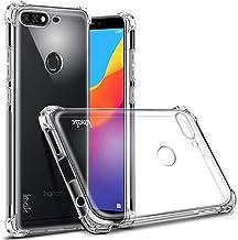 غطاء حافظة من البولي يوريثان اللدن بالحرارة مضاد للصدمات والسقوط لهاتف Huawei Honor 7C / Y7 Prime 2018 IMAK - شفاف