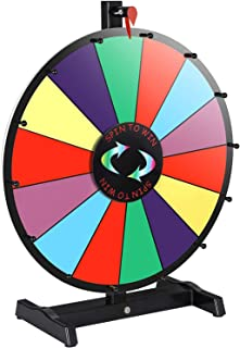 """Smartxchoices 18"""" Tabletop Spinning Wheel for Prizes w/Dry Eraser & Marker Pen Color Spinner 14 Slots Editable Casino Carnival Fortune Spin Game"""