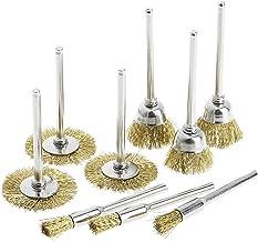 9 cepillos de<br/>de alambre de cepillo de latón mueren amoladora herramienta eléctrica rotativa para grabador