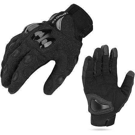 Motorrad Handschuhe Handschuhe Mit Touchscreen Funktion Winter Warm Atmungsaktiv Anti Rutschfahrad Handschuhe Ideal Für Motorrad Radfahren Camping Outdoor Schwarz M Auto