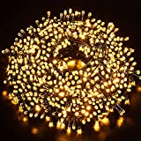 Luces Navidad Exterior 100M 1000LEDs,GlobaLink Luces Árbol Navidad IP44 Impermeable,Luces LED en Forma Diamante,Brillo de 8 Modos,Decoracion Navidad,Patio,Jardín,Habitación,Boda con Bobina,50 Bridas