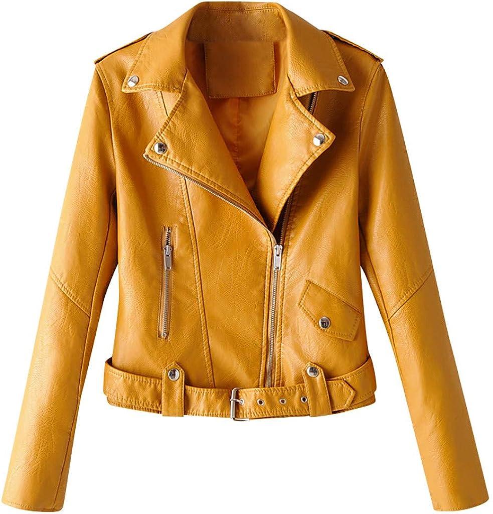 Leather Biker Jacket Women, NRUTUP Faux Leather Jacket, Faux Lambskin Jacket, Cropped Motorcycle Jacket