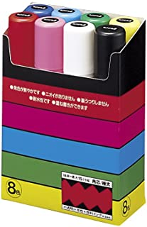 三菱鉛筆 水性ペン ポスカ 極太 角芯 8色 PC17K8C