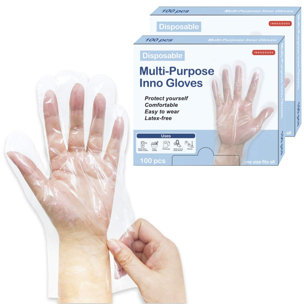 Disposable Miami Mall Multi-Purpose Bombing new work Poly PE Clear Food Kit Gloves Handling
