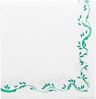 Garcia de Pou unité de 1200Jeux Floraux Motif Double Point Serviettes 18g/m² en boîte, 40x 40cm, Papier, Blanc, 30x 3...
