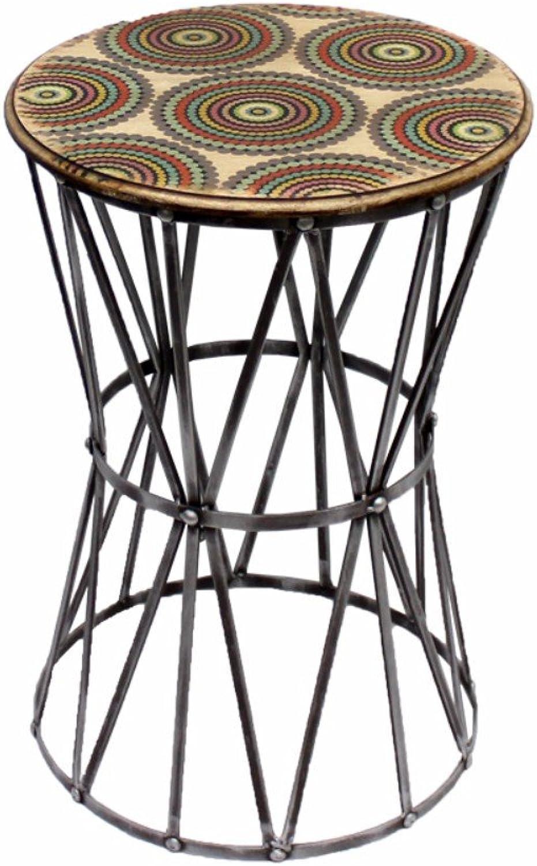 Benzara BM165206 Graciously Designed End Table, Multicolour