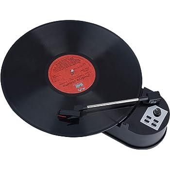 [YOYO] ミニレコードプレーヤー MP3ダビング機能搭載 超小型ターンテーブル アナログ盤資産を デジタル化 レコード音源をワンタッチ録音 33回転/45回転切替可能 EP/LP ドーナツ盤対応 曲毎にファイルを自動分割 3.5mm出力 USBメモリ・HDD・microSDカードに直接記録 パソコン不要 MP3ファイル再生 コン
