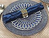 Gold Silber Serviettenringe, 6/12 Stück Metall Serviettenschnallen für Hochzeitsfeier Abendessen Jubiläum Tischdekoration - 6