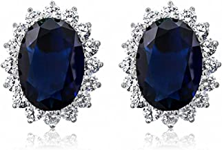 Best simulated sapphire earrings Reviews