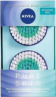 Nivea Pure Skin Deep Cleansing borstelkop (2 x 2 borstelkoppen), opzetstuk voor de elektrische gezichtsreinigingsborstel, ...