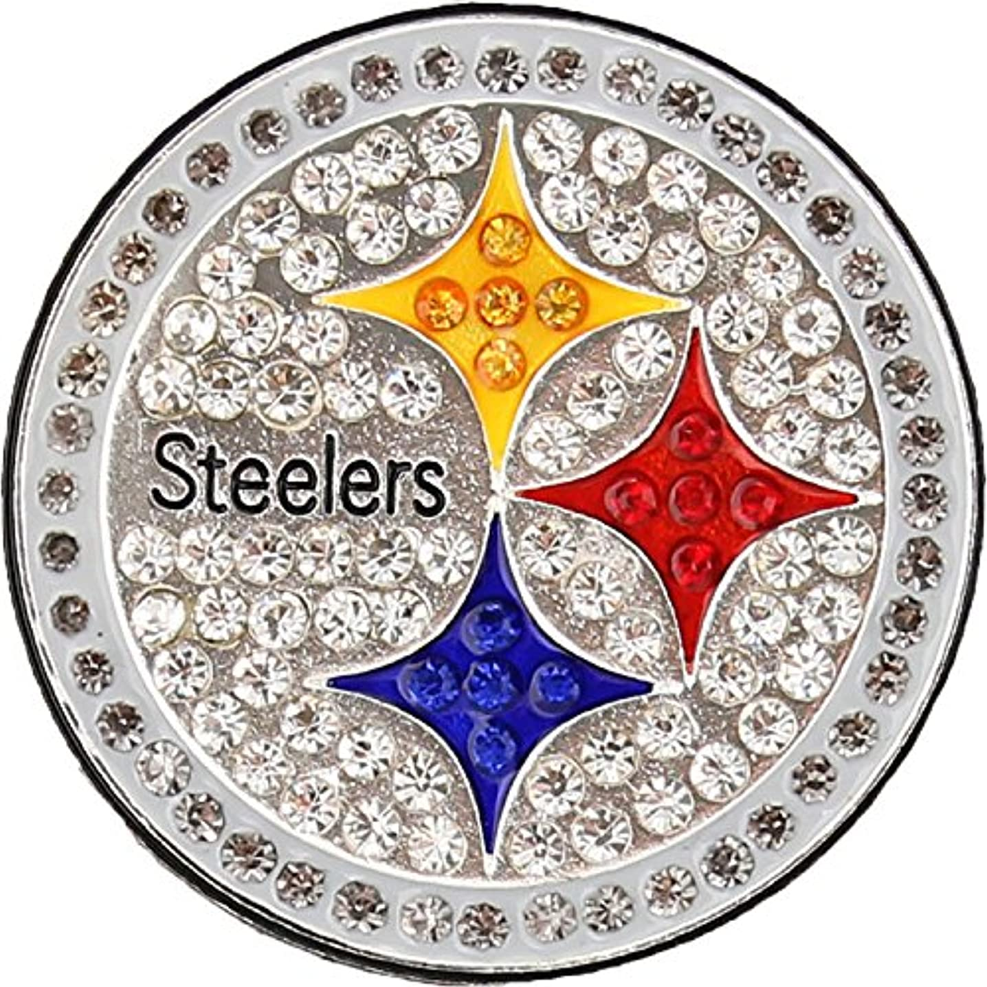 Pittsburgh Steelers Crystal Logo Brooch Pin