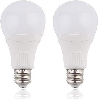 LED センサー電球 E26口金 レーダーセンサー/人感センサー 15w 100w相当 1500LM 超高感度 搭載レーダー探知機 明暗センサー 自動点灯/消灯 省エネ 昼光色5000k 広配光タイプ センサーライト 屋内屋外照明ランプ 2個入り