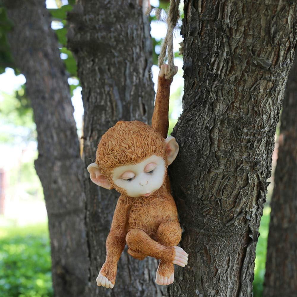 zenggp Climbing Monkey Garden Ornament Sculpture Figure お歳暮 春の新作 Ga Resin