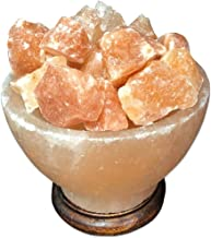 SudoreWell Bol à sel avec morceaux de sel Ø 18 cm - lampe pour maison ou sauna - bol feu
