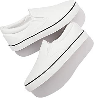 Womens Slip on Canvas Shoes Fashion Sneakers White Casual...