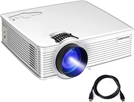 $69 Get PONER SAUND Mini Projector, 50% Brighter LED Movie Projector, GP9 Video Portable Projector 1080P Supported, Home Theater Projector Up to 170 Inch Screen, Compatible with Mac/Ipad/PS4/HDMI/VGA/TF/USB