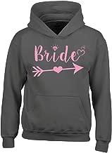 Shop4Ever Bride Pink Heart Arrow Hoodies Wedding Sweatshirts