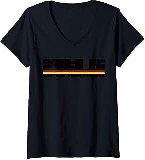 Womens Santa Fe New Mexico Sunset V-Neck T-Shirt