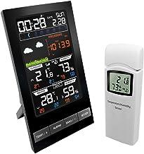 Thermometer Hygrometer Klok Weerstation Binnen Buiten Temperatuursensor Vochtigheidsmeter LCD Digitaal